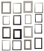 Silver and Black Portrait Frame Multiple Selection