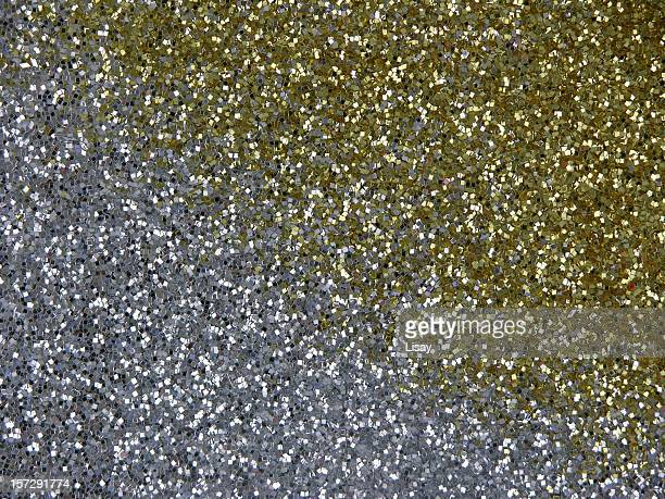 Silver and gold glitter