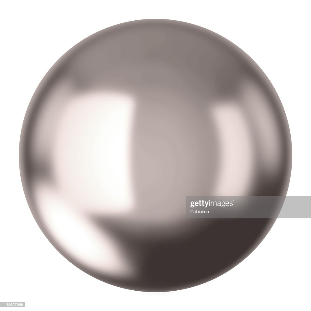 Silver ball : Stock Photo