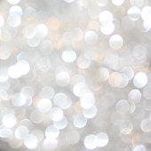 Silver Bokeh Glitter