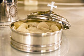 Silver bowl for the Christian holy communion
