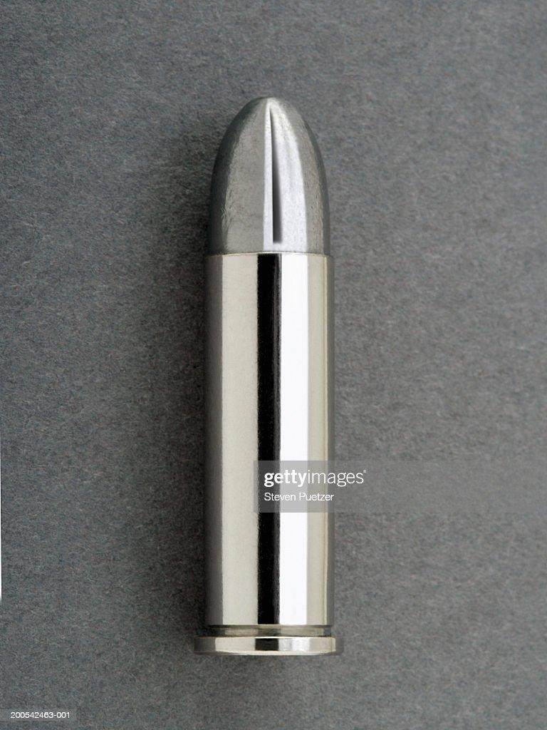 Silver bullet (.38 caliber), close-up