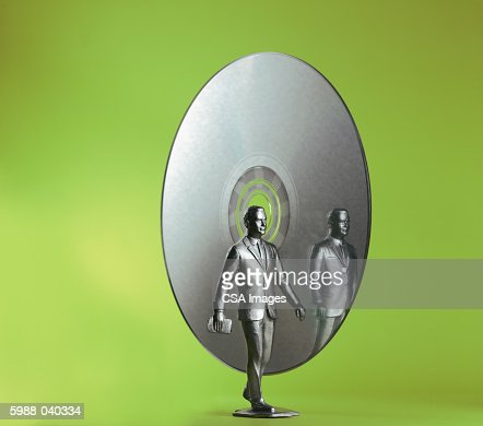 Silver Businessman, CD ROM : Stock Photo