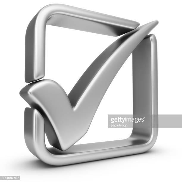 silver check mark