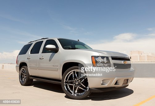 Silver Chevy Tahoe