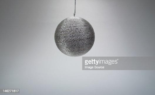 Silver Christmas bauble, studio shot