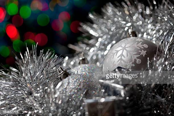 Silver Christmas Decoration with Lights