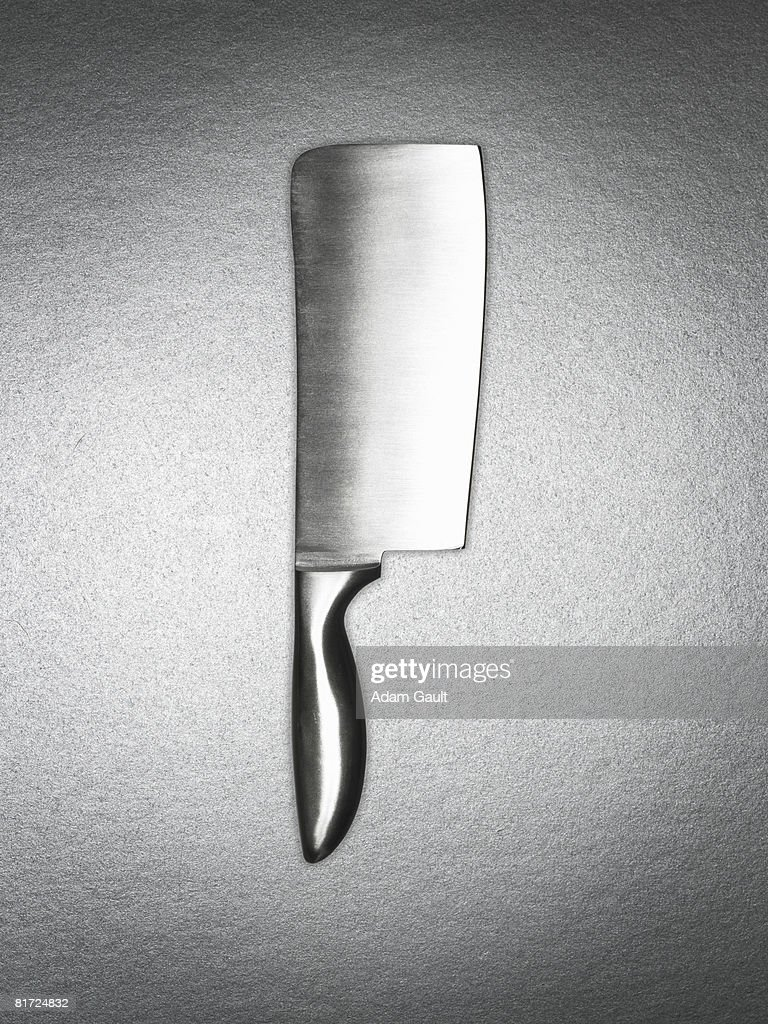 A silver cleaver : Stock Photo