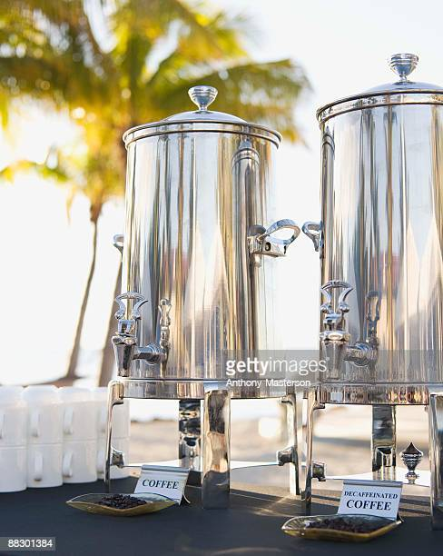 Silver coffee urns