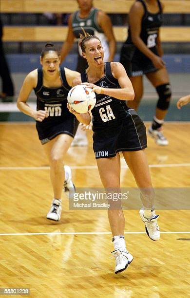 Silver Ferns Tania Dalton in action during the match between the Silver Ferns and the Cook Islands at the World Netball Champs Monday The Silver...