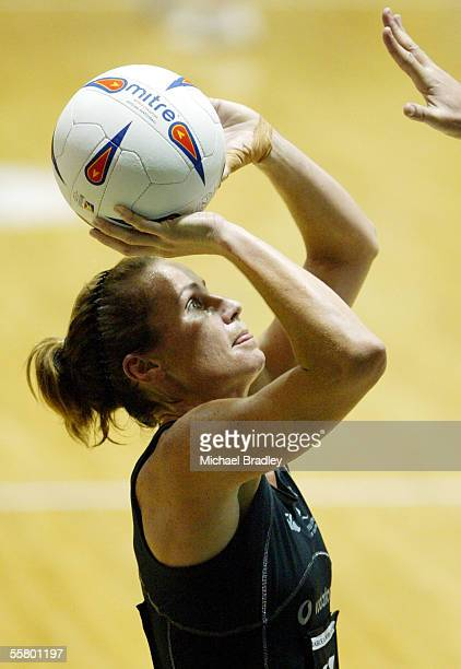 Silver Ferns Tania Dalton in action during the netball match between the Silver Ferns and Niue at the World Netball Champs held at the Independance...