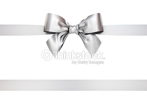 Silver gift ribbon bow isolated on white background 3d rendering silver gift ribbon bow isolated on white background 3d rendering stock photo negle Choice Image