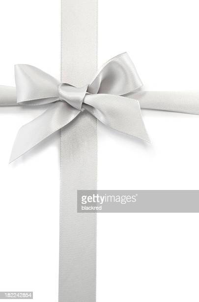 Ruban argent & Bow cadeau