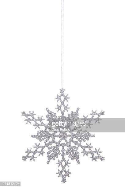 Silver Glitter Snowflake