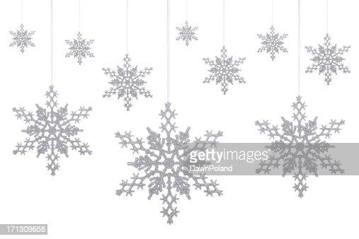 Silver Glitter Snowflakes!