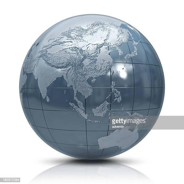 Silver globe - Oceania