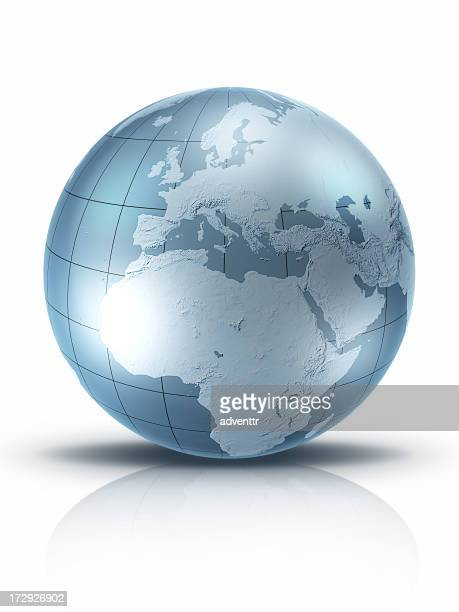 Silver Globe-Europe and Africa