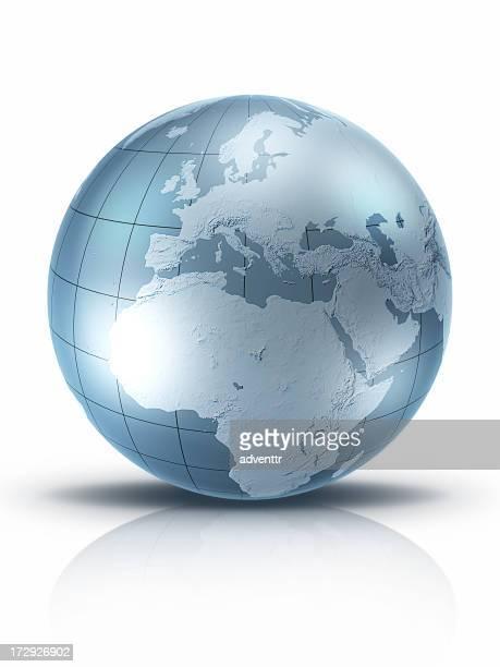 Silber Welt-Europa und Afrika