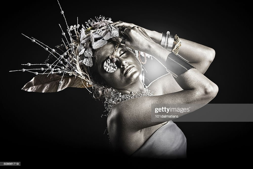 Silver Goddess : Stock Photo