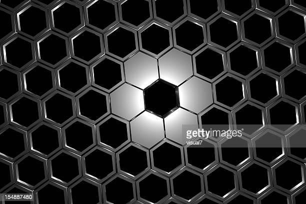 silver honeycomb mesh