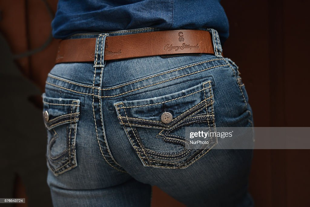 A Silver Jeans Co and Calgary Stampede belt an example pf typical clothes that can be seen during the Calgary Stampede On Thursday 14 July 2016 in...