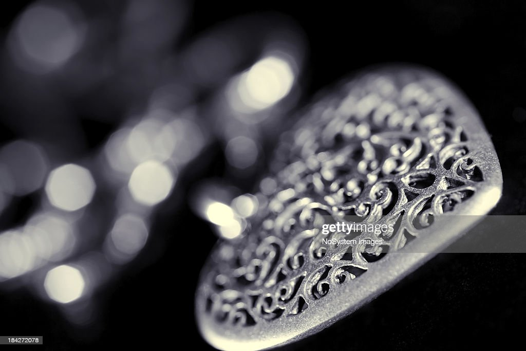 Silver jewelery : Stock Photo