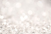Abstract silver glitter light background