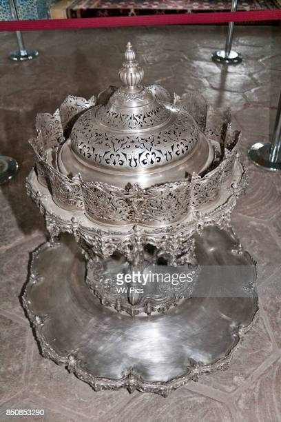 Silver mangal in Baghdad Pavilion Topkapi Palace also known as Topkapi Sarayi Sultanahmet Istanbul Turkey