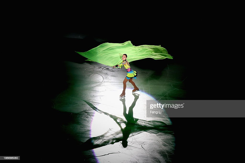 Silver medalist Adelina Sotnikova of Russia performs during Lexus Cup of China ISU Grand Prix of Figure Skating 2013 at Beijing Capital Gymnasium on November 3, 2013 in Beijing, China.