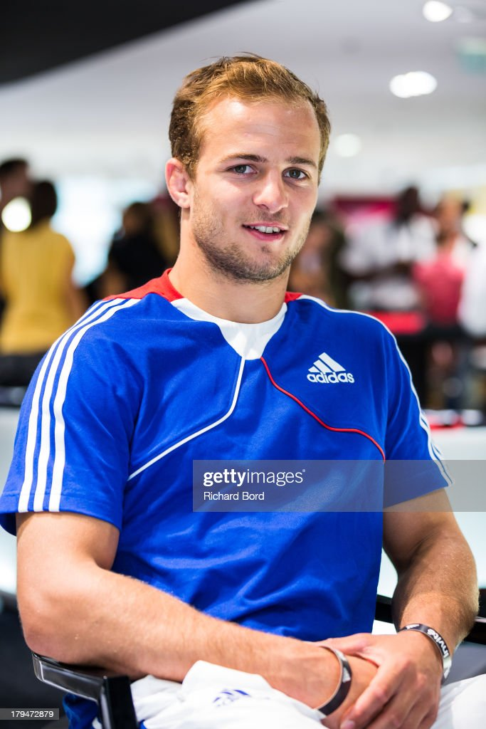 Silver medalist at the World Judo Championship in Rio de Janeiro, Ugo Legrand of France poses at Adidas Performance Store Champs-Elysees on September 4, 2013 in Paris, France.