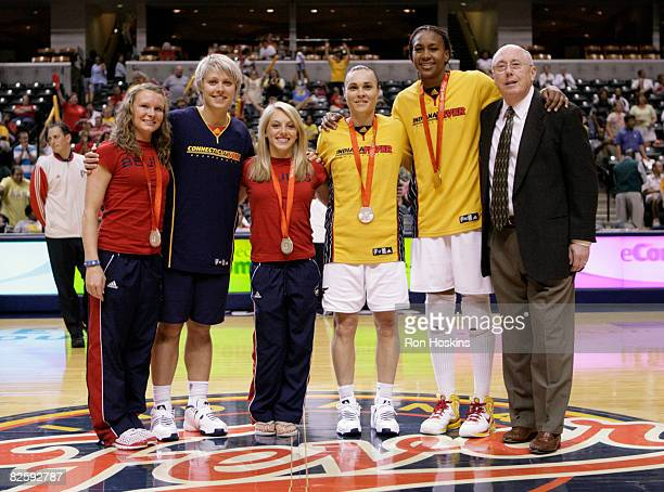 Silver medalist Bridget Sloan silver medalist Erin Phillips of the Connecticut Sun silver medalist Samantha Peszek silver medalist Tully Bevilaqua of...