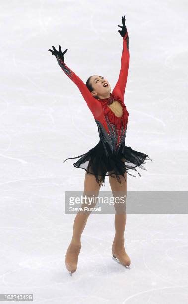 Silver medalist Japan's Mao Asada during the Ladies' Free Skating Program at the Vancouver 2010 Olympic Winter Games at the Pacific Coliseum in...