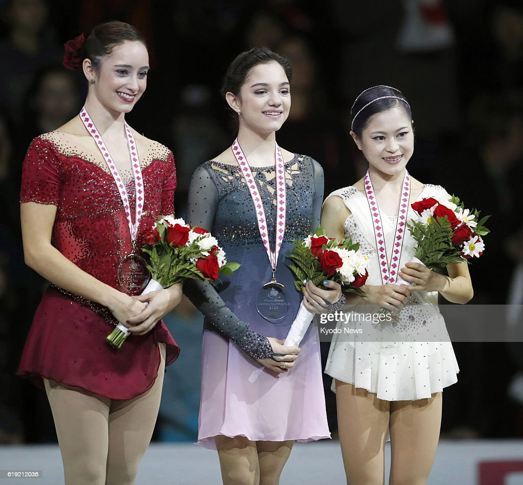 Сатоко Мияхара / Satoko MIYAHARA JPN - Страница 2 Silver-medalist-kaetlyn-osmond-of-canada-gold-medalist-evgenia-of-picture-id619212036