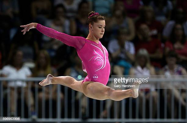 Silver medalist Madison Desch of the USA performs on the balance beam during the women's all around gymnastics competition at the Toronto 2015 PanAm...