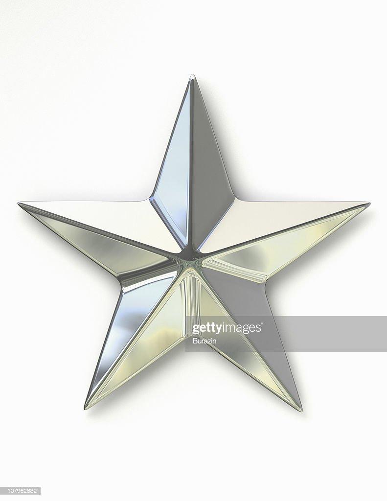Silver Metal Star : Stock Photo