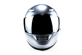 silver motorcycle helmet on white.similar images from my portfolio:
