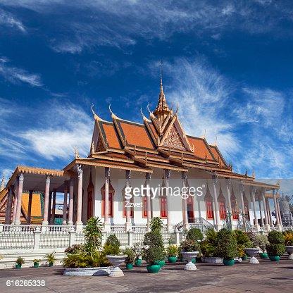 Silver Pagoda in Phnom Penh, Cambodia : Stock Photo