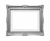 (Clipping path) Silver Picture Frame isolated on white background