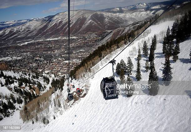Silver Queen Gondola travels 25 miles and more than 3000 vertical feet from Aspen Gondola Plaza to the 11212ft summit of Aspen Mountain Hyoung Chang/...