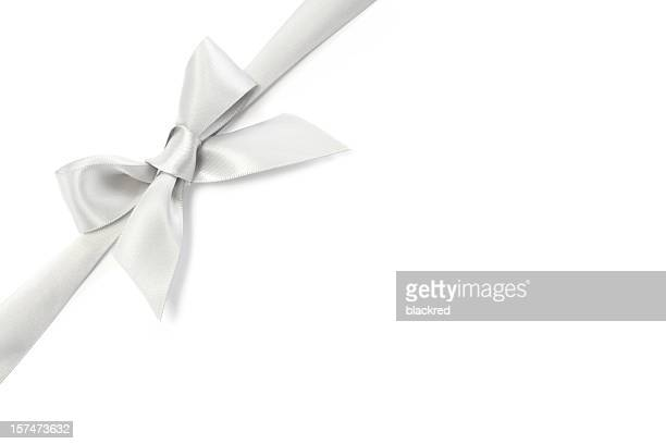 Silver Ribbon Bow
