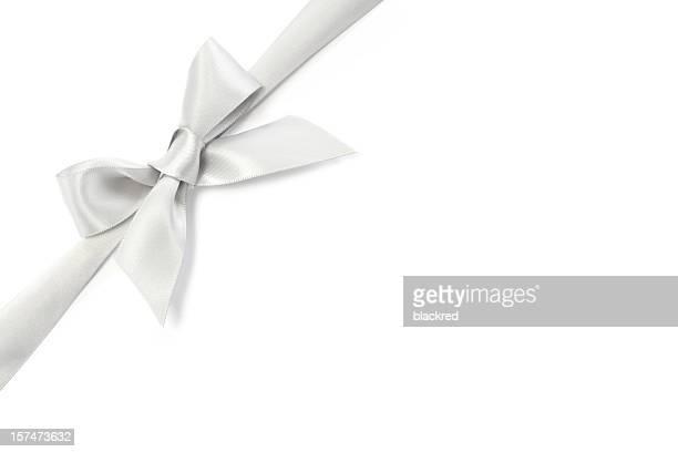 Silber Band mit Schleife