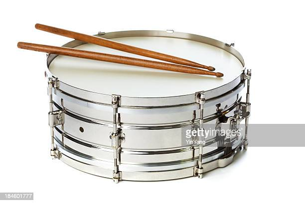 Silver Snare Tin Drum with Sticks