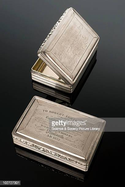 Silver snuff boxes United Kingdom presented in 1832 and 1850 Silver snuff box presented to Matthew Whitehill for attendance during outbreak of...