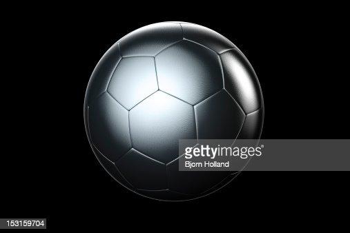 Silver Soccer Ball : Stock Photo