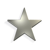 Silver Star Icon. Concept of Luxury and Wealth
