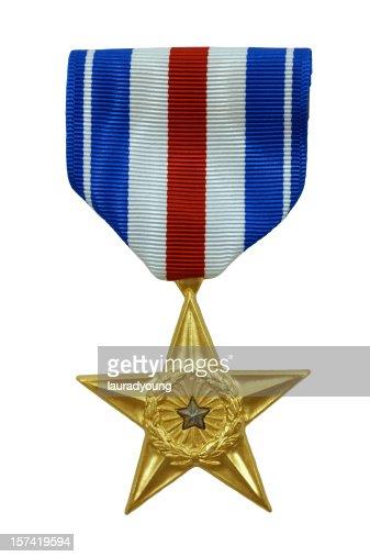 シルバーの星のメダル