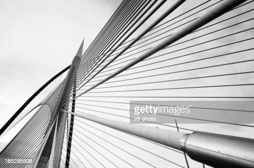 silver steel bridge