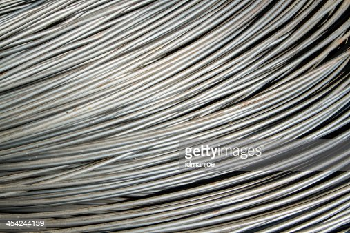 silver steel rod : Stock Photo