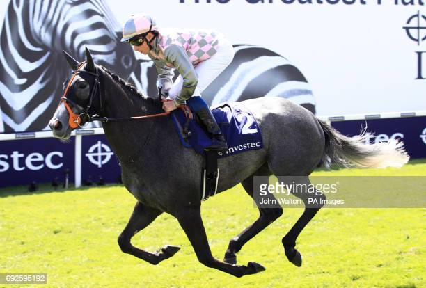 Silver Step ridden by Jockey William Buick prior to the Princess Elizabeth Stakes
