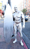 A silver surfer cosplayer at ComicCon International 2016 on July 20 2016 in San Diego California